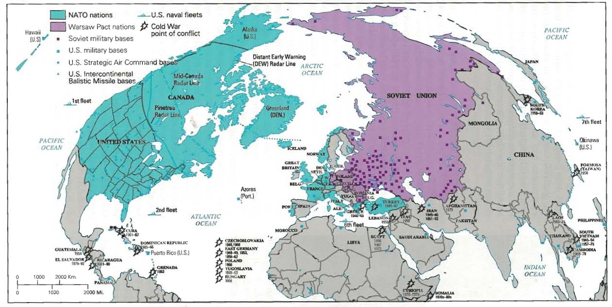 Note This Is Not A Comprehensive Outline - Us and its allies map