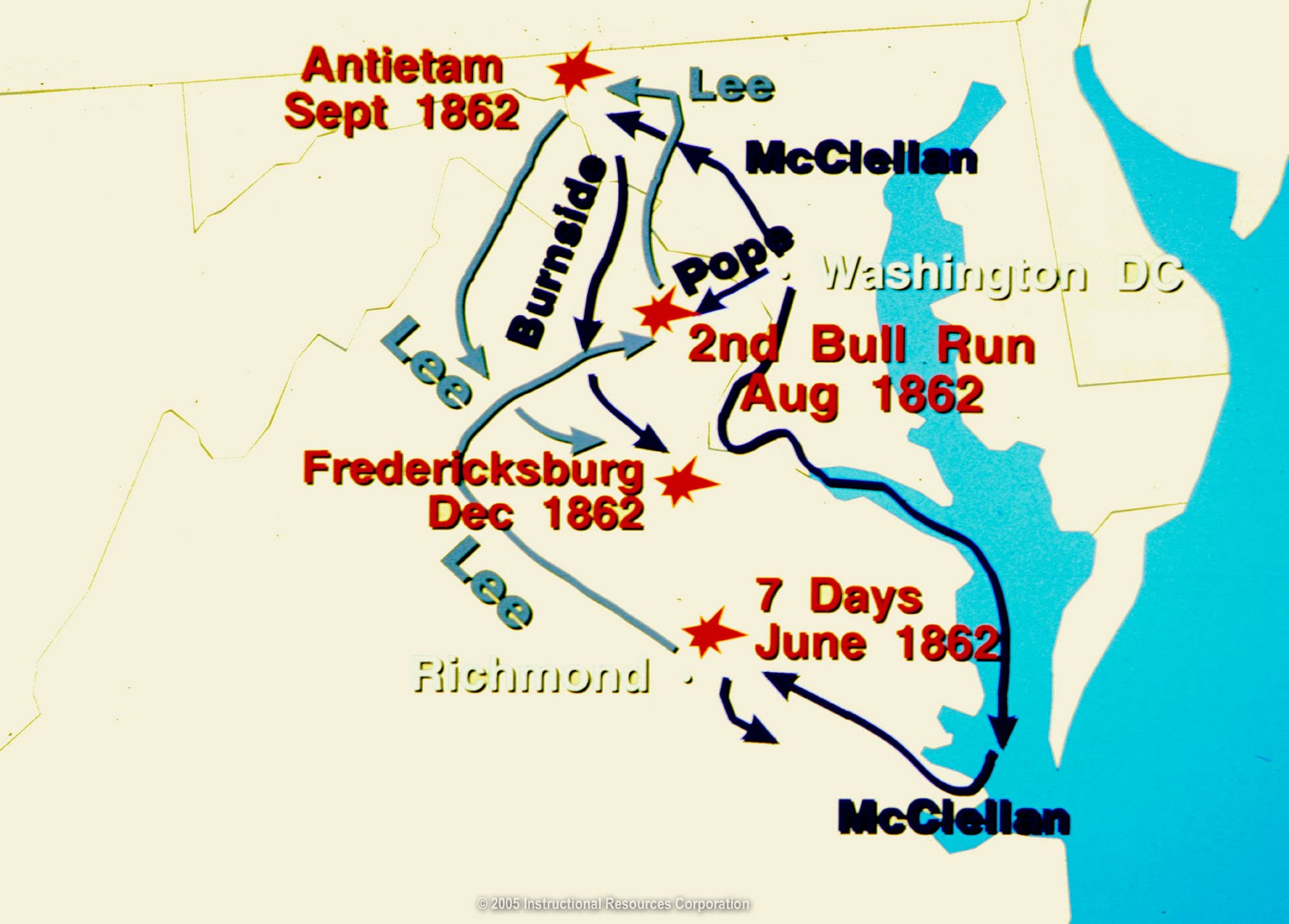 Civil War A Summary For Grades Antietam Battle Map US Civil - Us map civil war battles