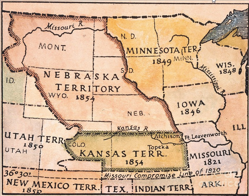 blank map of us after kansas nebraska act of 1854 28 images